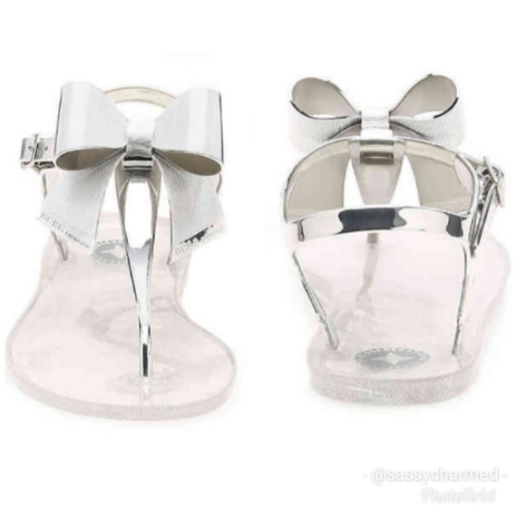 dbc7bab0bc7d BCBGeneration Shoes - NWOT BCBG Beena Jelly Clear   Metallic Sandal